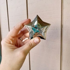 Metal Star Trinket Box Jewelry Holder Mini Vintage